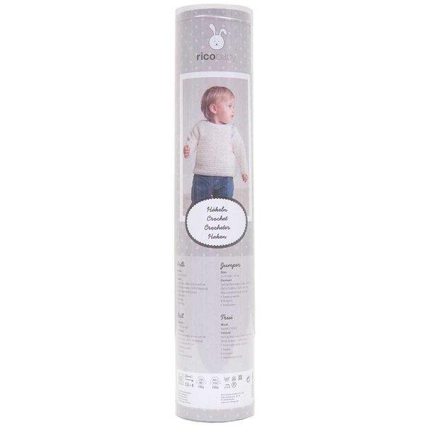 Rico Design Häkelset Babypullover weiß 12teilig