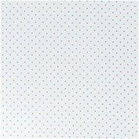 Rico Design Stoff Pünktchen weiß-hellblau 50x160cm
