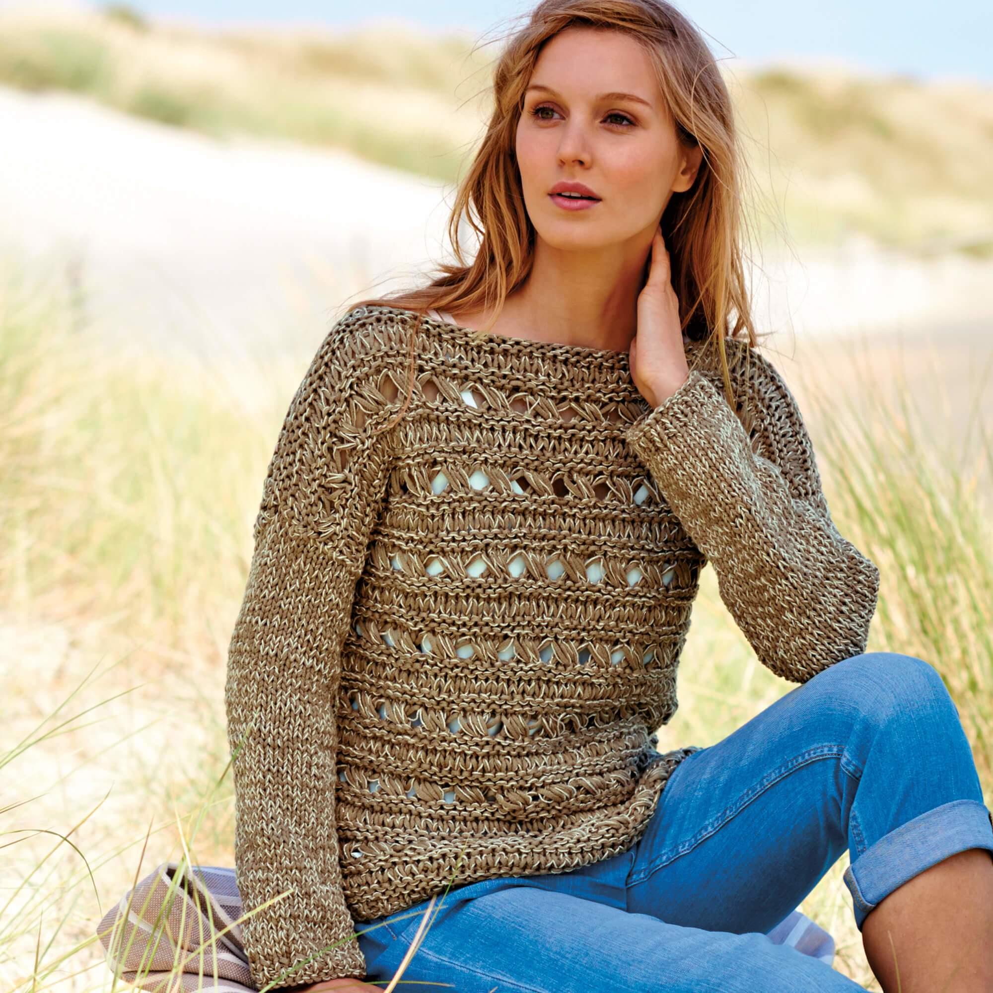 Strickanleitung Pullover mit Lochmuster | Wolle Rödel