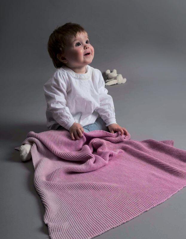 Bekannt Strickanleitung Babydecke aus Creative Cotton dégradé   Wolle Rödel SG39