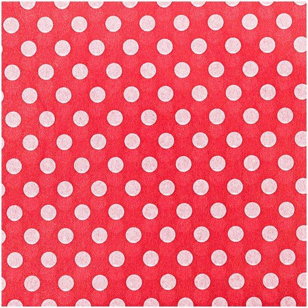 Paper Poetry Seidenpapier rot-weiße Punkte 50x70cm 5 Bogen