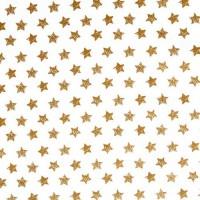 Rico Design Stoff Sterne groß gold 50x160cm