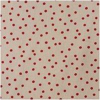 Rico Design Stoff Punkte natur-rot 140cm breit