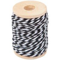 Paper Poetry Baumwollgarn schwarz-weiß 15m