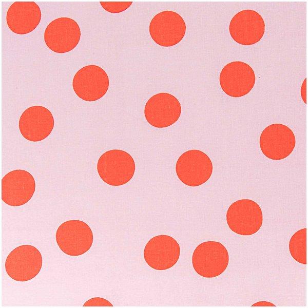 Rico Design Stoff gosa Punkte groß neon 140cm