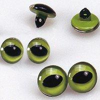 efco Katzenaugen grün 14mm Glas 2 Stück