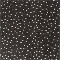 Rico Design Stoff Sterne schwarz-natur 50x140cm