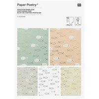 Paper Poetry Postkartenblock Kommunion und Konfirmation 12,5x17,6cm