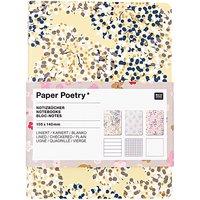Paper Poetry Notizbücher A6 3 Stück