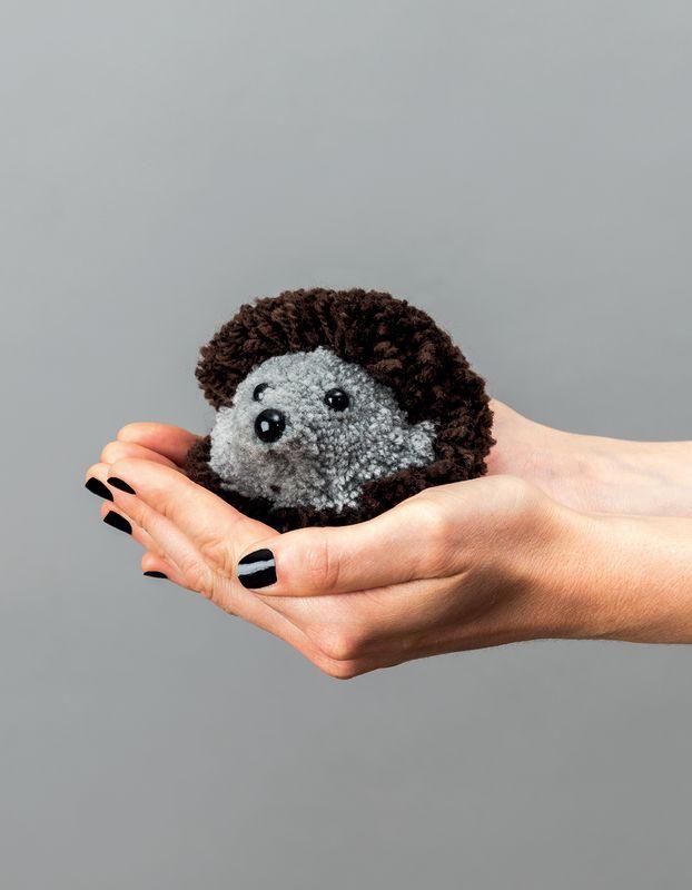Anleitung Pompon Igel Basteln Wolle Rodel