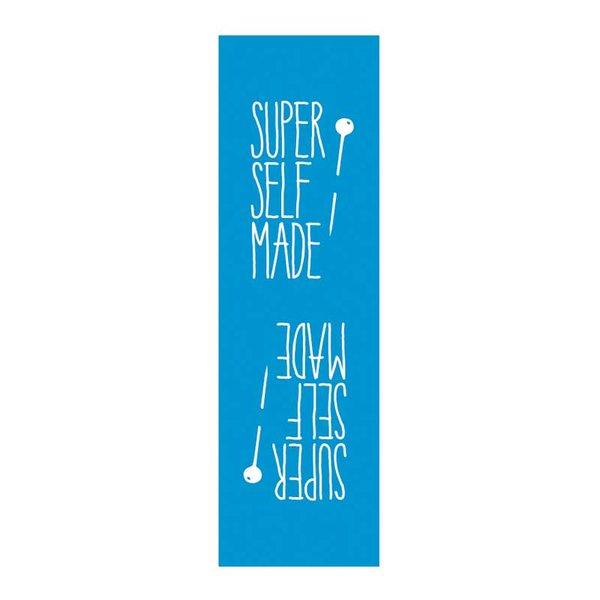 Rico Design Webetiketten außen Super Selfmade dunkelblau 2x8cm 3 Stück