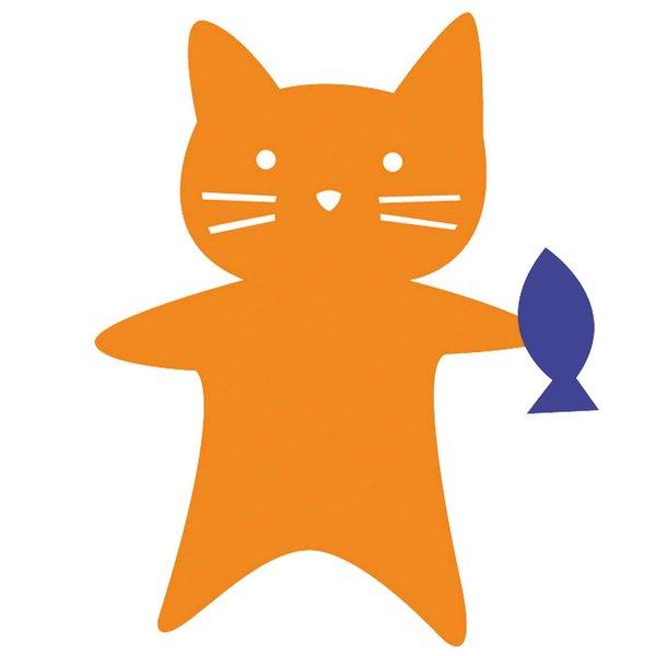 Rico Design Appliqué Katze mit Fisch 6,8x9cm