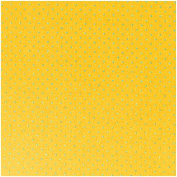 Rico Design Stoff Punkte gelb-blau 50x160cm