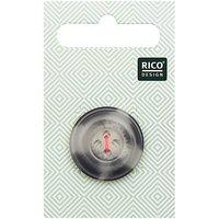Rico Design Knopf beige-grau 2,5cm strukturiert