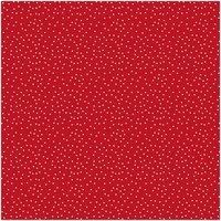 Rico Design Stoff Sterne rot-natur 50x140cm
