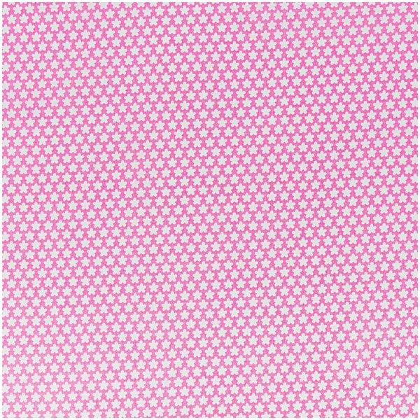 Rico Design Stoff Blümchen pink-weiß 50x160cm