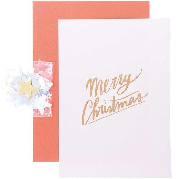 Paper Poetry Grußkartenset Merry Christmas