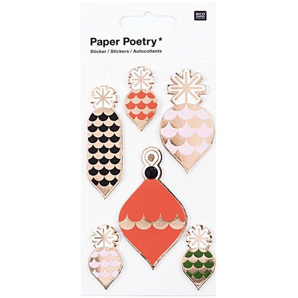 Paper Poetry 3D Sticker Baumschmuck Hot Foil