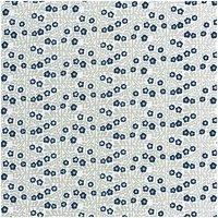 Rico Design Druckstoff kleine Blumen grau-blau 140cm