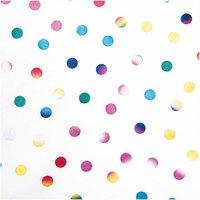 Rico Design Druckstoff Punkte mehrfarbig 50x140cm