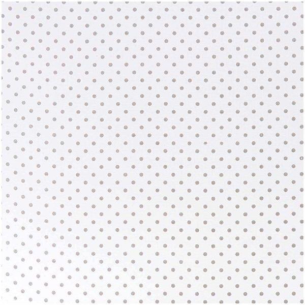 Rico Design Stoff Punkte klein weiß-grau 140cm