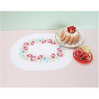 Rico Design Stickpackung Deckchen Blütenkranz 30x40cm