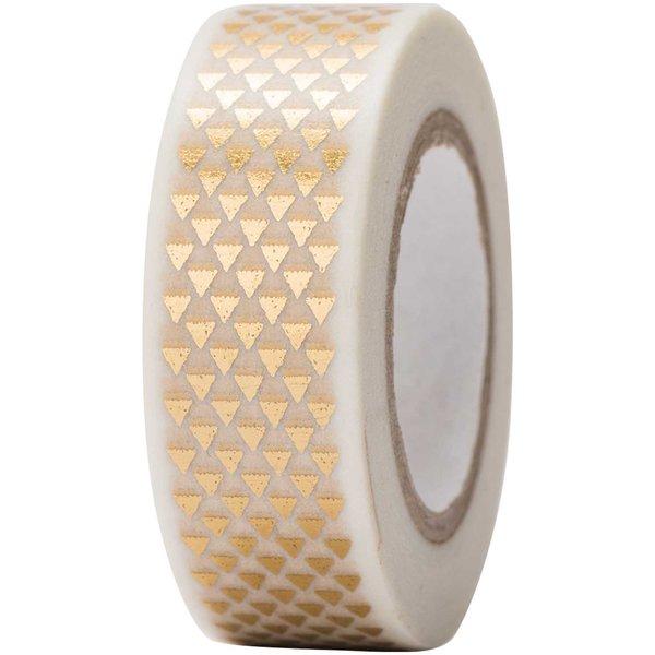 Paper Poetry Tape Dreiecke gold 15mm 10m Hot Foil
