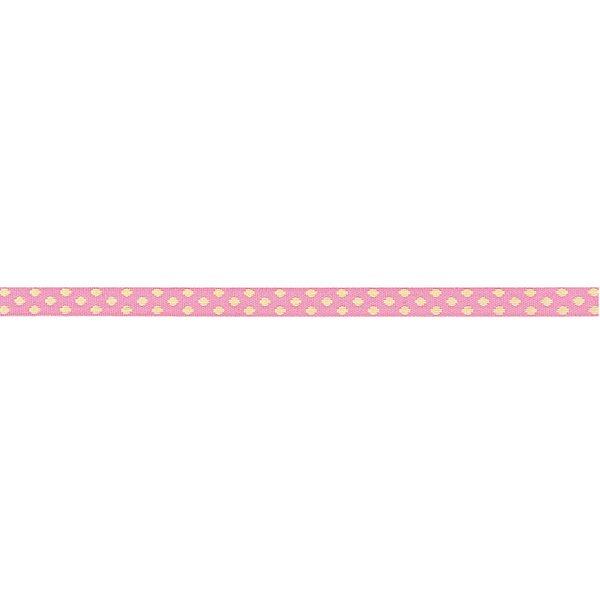 Rico Design Ribbons gewebte Pünktchen rosa-hellrosa 2m