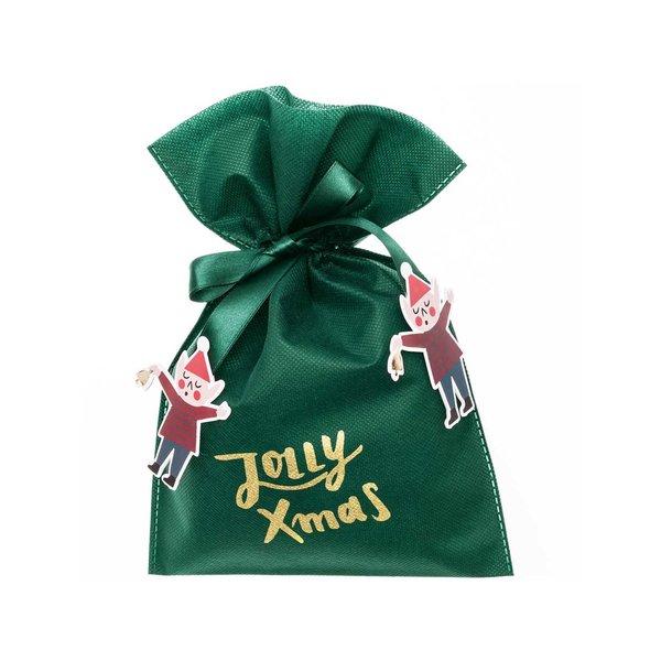 Paper Poetry Geschenktüte Jolly X-Mas grün 20x30cm