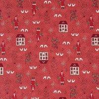Rico Design Stoff Häuser rot 50x110cm