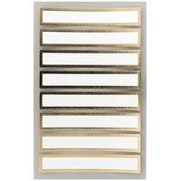 Paper Poetry Office Sticker Etiketten mit goldenem Rahmen 85x15mm 4 Bogen