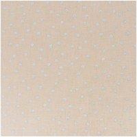 Rico Design Stoff Punkte natur-silber 50x140cm