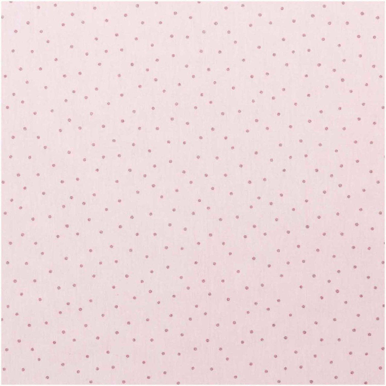 Rico Design Jerseystoff Punkte rosa-metallic 70...