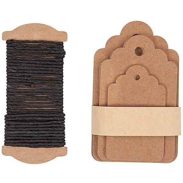 Paper Poetry Geschenkanhänger Ornament braun 30 Stück