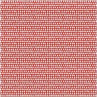 Rico Design Stoff Punktelinie rot-weiß 50x140cm