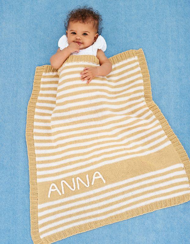 Sehr Strickanleitung Babydecke mit Streifen | Wolle Rödel LJ57