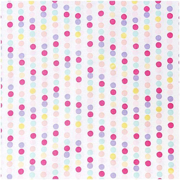 Rico Design Stoff Punktelinie pink-lila 50x140cm