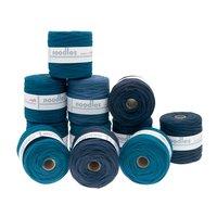 noodles Textilgarn Blautöne ca. 500-700g