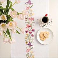 Rico Design Stickpackung Läufer Frühlingskranz 45x100cm