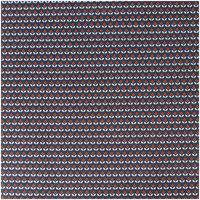 Rico Design Stoff grafische Blumen blau 50x140cm