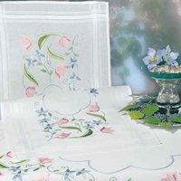 Rico Design Stickpackung Läufer Blumenranke 40x100cm