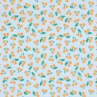 Rico Design Stoff Kirschen neonorange 50x160cm