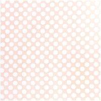 Rico Design Stoff Punkte groß apricot-weiß 50x140cm
