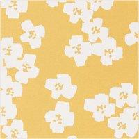 Rico Design Druckstoff Okina Hana Blumen senfgelb-hellgrau 140cm beschichtet