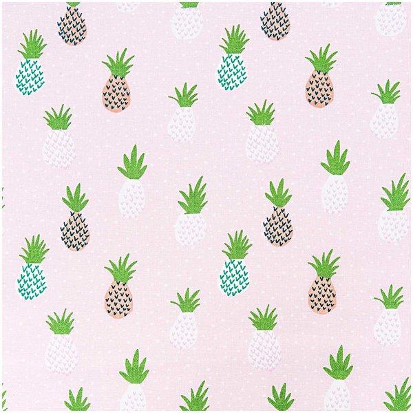 Rico Design Stoff Ananas pink 140cm