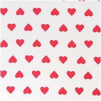 Rico Design Stoff weiß-rote Herzen 160cm