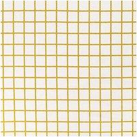 Rico Design Stoff Karo klein weiß-gold 50x140cm beschichtet