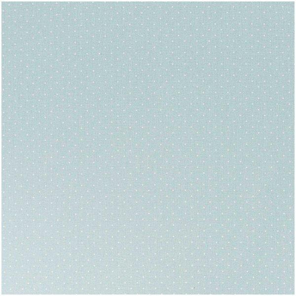 Rico Design Stoff Pünktchen mint-weiß 50x160cm