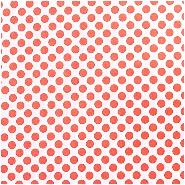 Rico Design Stoff Punkte neonorange 50x160cm