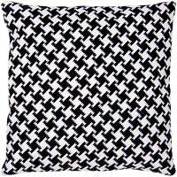 Rico Design Gobelin Kissen Pepitamuster schwarz-weiß 40x40cm zum Sticken